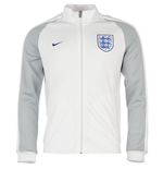 Jacke England Fussball 2016-2017 Nike Authentic N98 (Weiss)