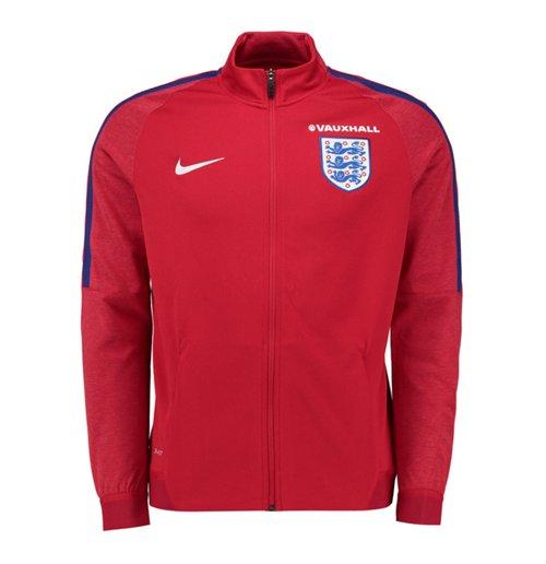 Jacke England Fussball 2016 2017 Nike Authentic Revolution Knit Track (Rot)