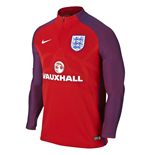 Sweatshirt England Fussball 2016-2017 Nike Authentic Strike Drill (Rot)