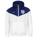 Jacke England Fussball 2016-2017 Nike Authentic Windrunner (Weiss)
