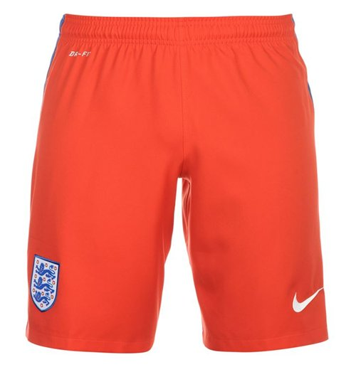 Shorts England Fussball 2016-2017 Nike Away (Rot)