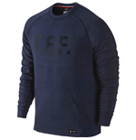 Sweatshirt Frankreich Fussball 2016-2017 Nike Authentic Tech