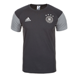 T-Shirt Deutschland Fussball 2016-2017 Adidas Players fur Kinder (Grau)