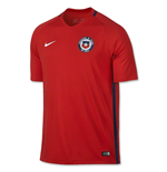 T-Shirt Chile Fussball 2016-2017 Home Nike