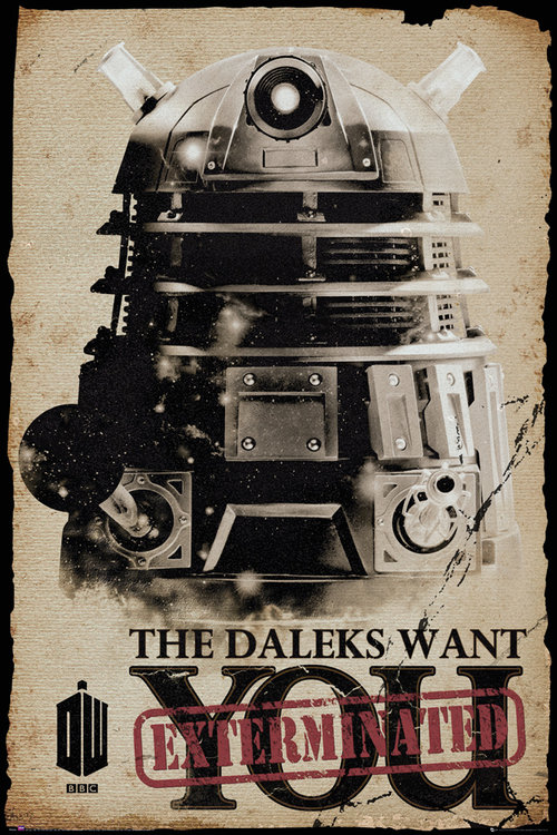 Poster Doctor Who  Daleks Want You