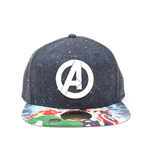 Avengers Snap Back Hip Hop Cap Logo with Comic Print