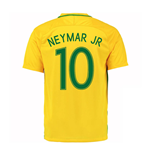 T-Shirt Brasilien Fussball 2016-2017 Home Nike (Neymar Jr 10) fur Kinder