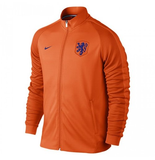 Jacke Holland Fussball 2016 2017 Nike Authentik N98 Orange