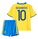 Trikot Schweden Fussball 2016-2017 Home Mini Kit (Ibrahimovic 10)