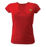 T-Shirt Ferrari in rot fur Frauen
