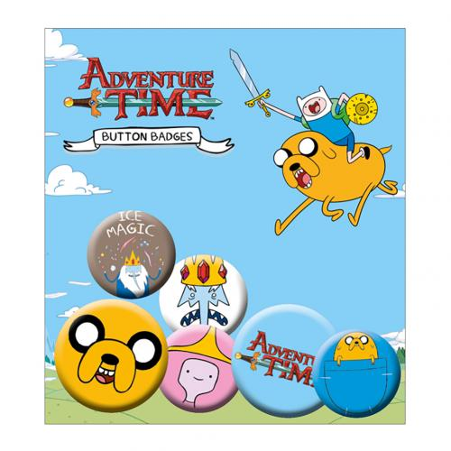 Brosche Adventure Time Packung