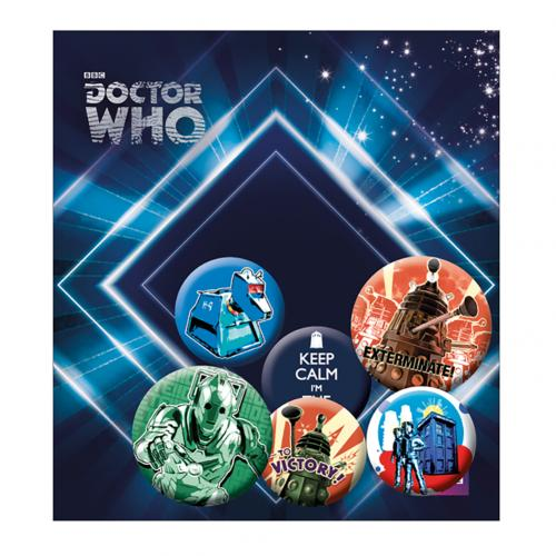 Packung Broschen Doctor Who