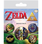 The Legend of Zelda Ansteck-Buttons 5er-Pack Link