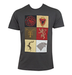 T-Shirt Game of Thrones House Squares
