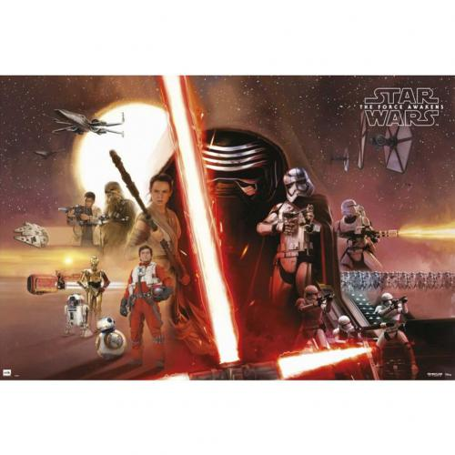 Poster Star Wars The Force Awankens Group 201