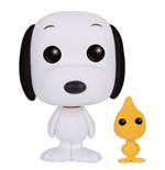 Peanuts POP! Animation Vinyl Figur Snoopy & Woodstock (Flocked) 9 cm