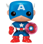 Marvel Comics POP! Marvel Vinyl Figur Captain America Photon Shield 75th Anniversary Limited 9 cm