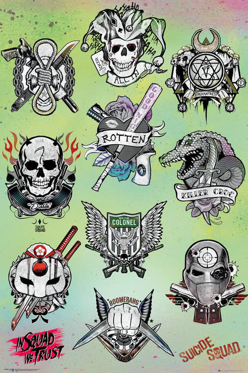 Poster Suicide Squad Tattoo Parlour