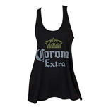 Top Coronita Distressed Logo für Frauen