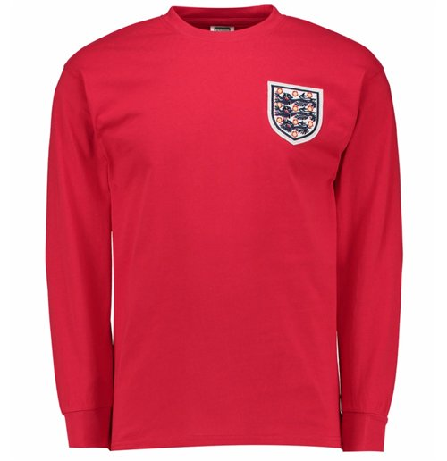 Trikot England Fussball Away retro 1966 Nr.6