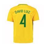 Trikot Brasilien Fussball 2016-2017 Home (David Luiz 4)