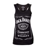 Top Jack Daniel's  Woman's Old No.7 Brand Logo Tank Top, Small, in schwarz