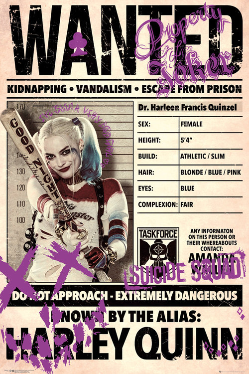Poster Suicide Squad Harley Wanted