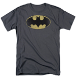 T-Shirt Batman Distressed Shield Logo