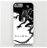 Alien iPhone 4 Schutzhülle Xenomorph Black & White Comic