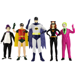 Batman 1966 Biegefiguren 5er-Pack 14 cm