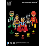 Justice League Mini Hybrid Metal Actionfiguren 5-er Pack 7 cm