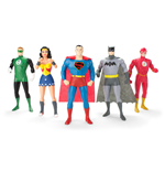 Justice League Biegefiguren 5er-Pack 13 cm
