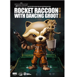 Guardians of the Galaxy Egg Attack Actionfigur Rocket Raccoon mit Dancing Groot 10 cm