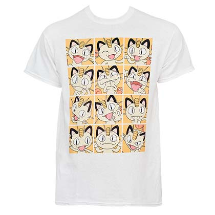 T-Shirt Pokémon Meowth Grid