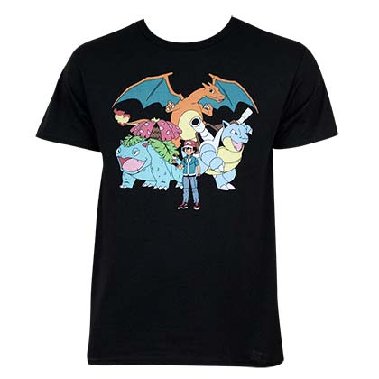 T-Shirt Pokémon Ash and Crew