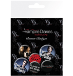 Brosche The Vampire Diaries Badge Pack - Stefan & Damon