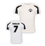 T-Shirt Cristiano Ronaldo Real Madrid (weiss) fur Kinder