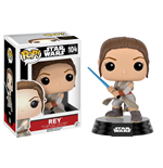 Star Wars Episode VII POP! Vinyl Wackelkopf-Figur Rey (Battle Pose) 9 cm