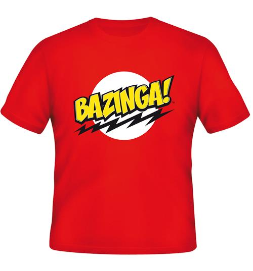 T-Shirt Big Bang Theory Bazinga Red