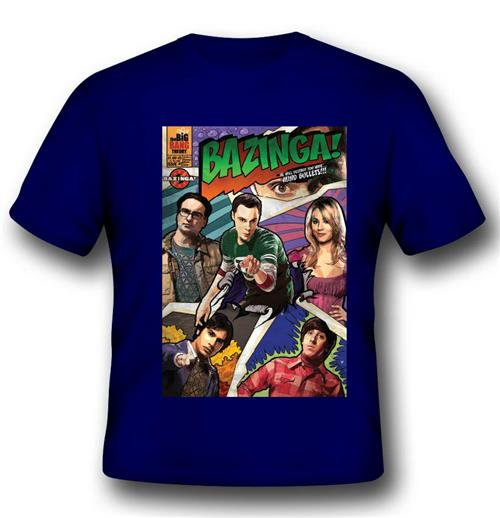 T-Shirt Big Bang Theory Comic Sheldon Cover