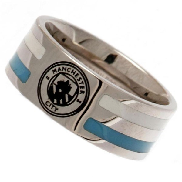 Ring Manchester City FC Colour Stripe Ring