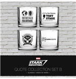 Iron Man Trinkgläser 4er-Pack Stark Industries Quotes Set B