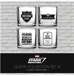 Iron Man Trinkgläser 4er-Pack Stark Industries Quotes Set A