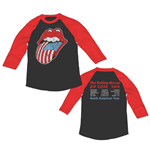Longsleeve Trikot The Rolling Stones - ZC15 USA Tongue Tour Raglan