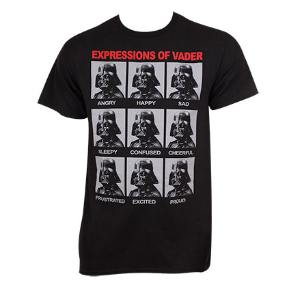 T-Shirt Star Wars Expressions of Darth Vader