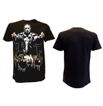 T-Shirt The punisher in schwarz. Crew Nevk Tee