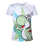 T-Shirt Super Mario Nintendo Yoshi in weiss