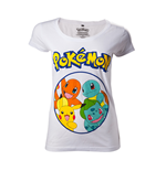 T-Shirt Pokémon - Pokemons in circle - Frauen