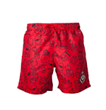 Badehose Nintendo  - Mario Swimshort Red with Allover Print and Small Mario Head