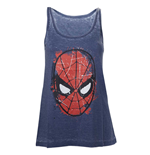 Top Marvel - Spiderman Head Paint - Frauen